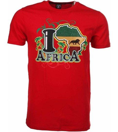 Local Fanatic T-shirt I Love Africa - Rood