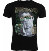 Local Fanatic T-shirt Made To Get Paid Scarface - Zwart