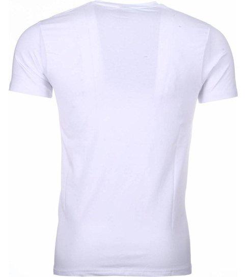 Mascherano T-shirt - Chucky Poster Print - Wit