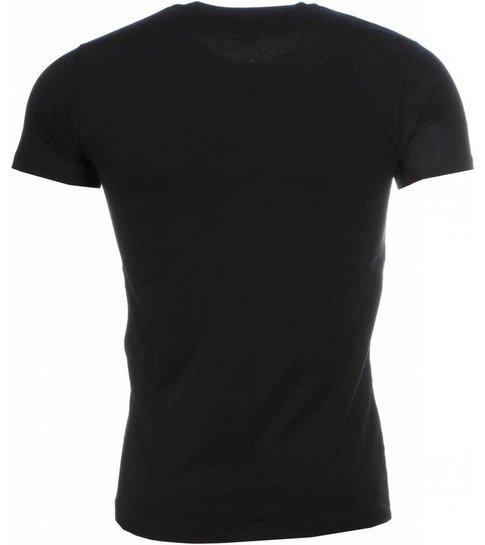 Local Fanatic T-shirt - Scarface Frame Print - Zwart