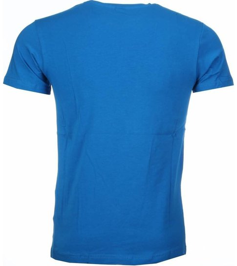 Local Fanatic T-shirt - Anonymous Disobey Print - Blauw