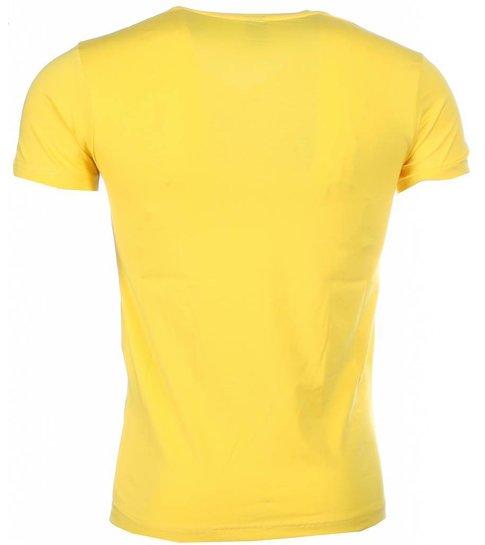 Local Fanatic T-shirt - Bruce Lee the Dragon - Geel