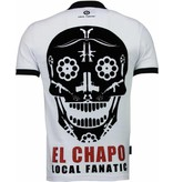 Local Fanatic El Chapo - Flockprint Polo - Wit