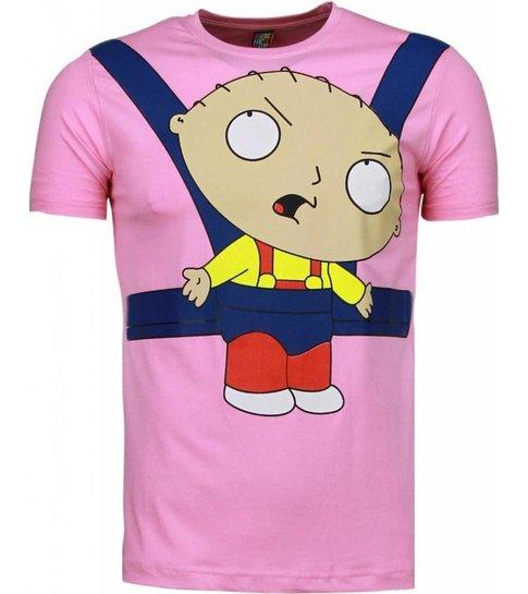 Local Fanatic Baby Stewie - T-shirt - Roze
