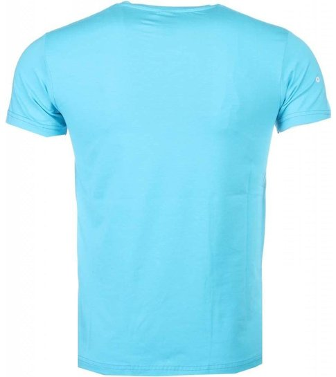 Local Fanatic Poppin Stewie - T-shirt - Blauw
