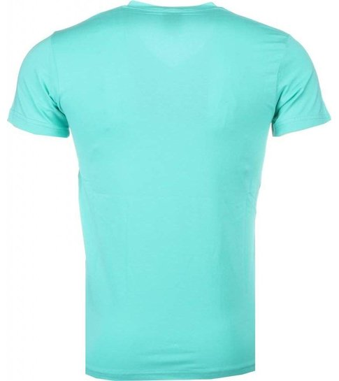 Local Fanatic Poppin Stewie - T-shirt - Turquoise
