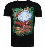Local Fanatic - Masch. Rich Stewie - T-shirt - Zwart