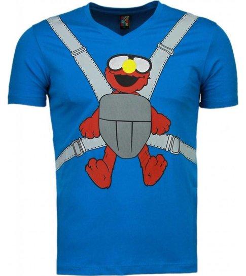 Local Fanatic Baby Bear - T-shirt - Blauw