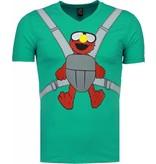 Local Fanatic Baby Bear - T-shirt -turquoise