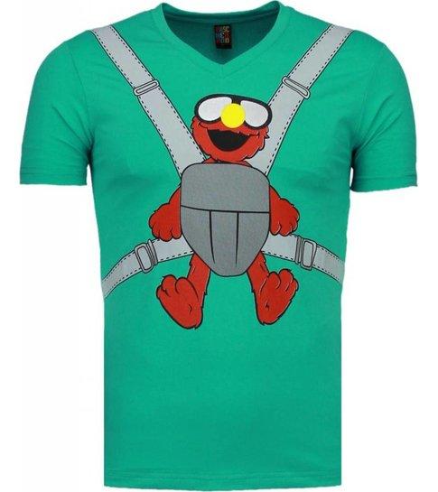 Local Fanatic Baby Bear - T-shirt - Mint Groen