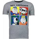 Local Fanatic Super Family - T-shirt - Grijs