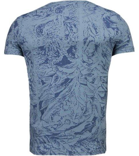 BN8 BLACK NUMBER Forrest Motief - T-Shirt - Blauw