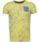 BN8 BLACK NUMBER Forrest Motief - T-Shirt - Geel