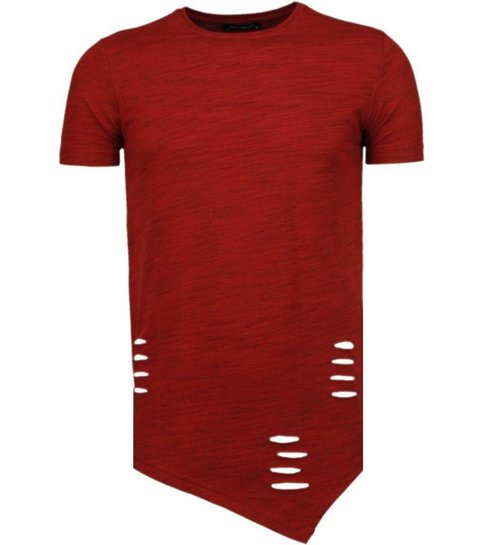 Tony Brend Sleeve Ripped - T-Shirt - Rood