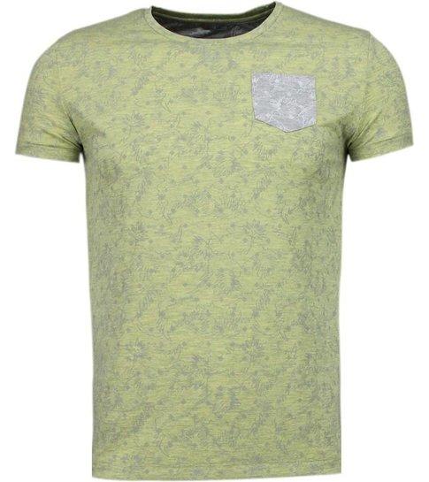 Black Number Blader Motief Summer - T-Shirt - Geel