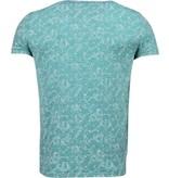BN8 BLACK NUMBER Blader Motief Summer - T-Shirt - Groen
