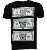 Local Fanatic Beter Have My Money - Rhinestone T-shirt - Zwart