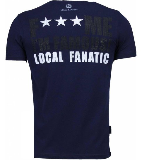 Local Fanatic Kim Kardashian - Rhinestone T-shirt - Navy
