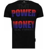 Local Fanatic Mayweather - Rhinestone T-shirt - Zwart