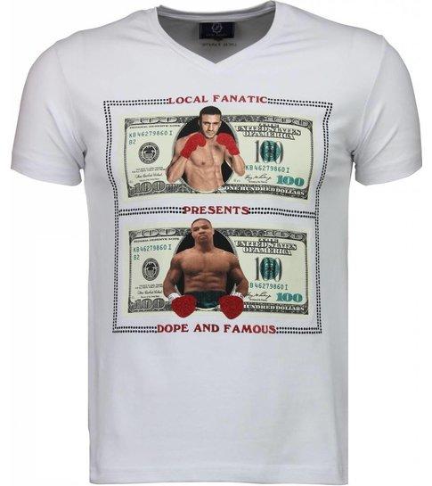 Local Fanatic Golden Boy vs Iron Mike - T-shirt - Wit