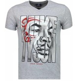 Local Fanatic Mike Tyson Tribal - T-shirt - Grijs