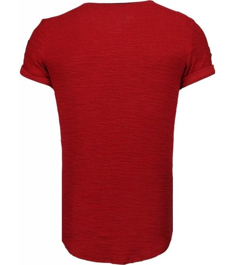 JUSTING Exclusief Military Patches - T-Shirt - Bordeaux