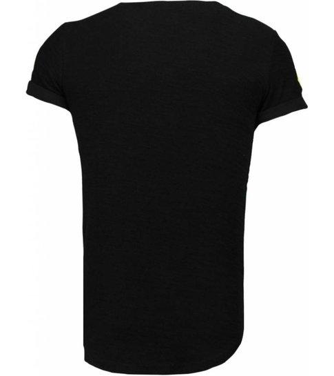 John H Exclusief Military Patches - T-Shirt - Zwart