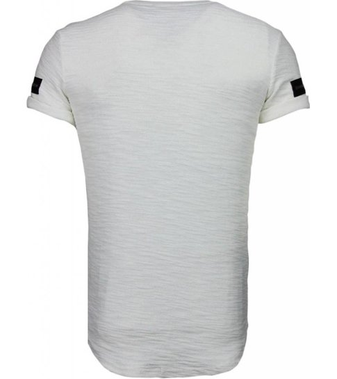 JUSTING Exclusief Zipped Chest - T-Shirt - Wit
