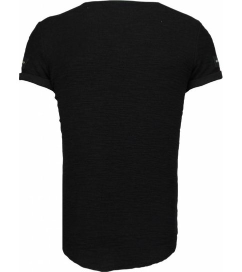 JUSTING Exclusief Zipped Chest - T-Shirt - Zwart