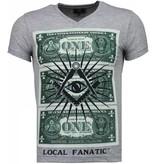 Local Fanatic One Dollar Eye - T-shirt - Grijs