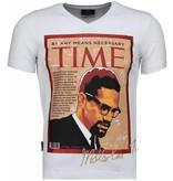 Local Fanatic Malcolm X - T-shirt - Wit