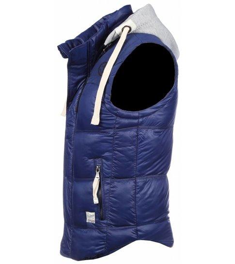 ENOS Bodywarmer Blauw met capuchon