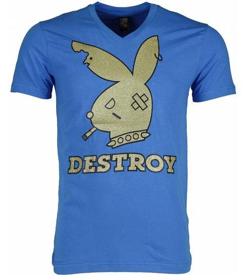 Local Fanatic T-shirt - Destroy - Blauw