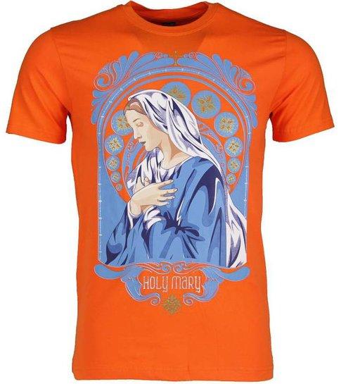 Local Fanatic T-shirt - Holy Mary - Oranje