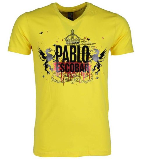 Local Fanatic T-shirt - Pablo Escobar Crime Boss - Geel