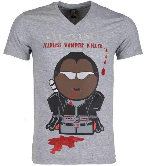 Local Fanatic T-shirt - Blade Fearless Vampire Killer - Grijs