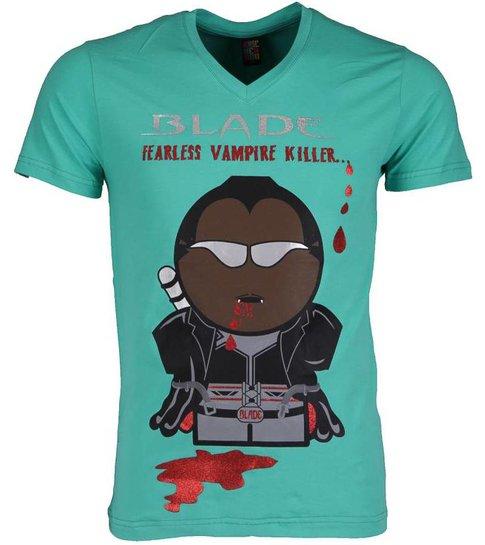 Local Fanatic T-shirt - Blade Fearless Vampire Killer - Groen
