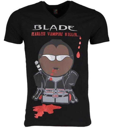 Local Fanatic T-shirt - Blade Fearless Vampire Killer - Zwart
