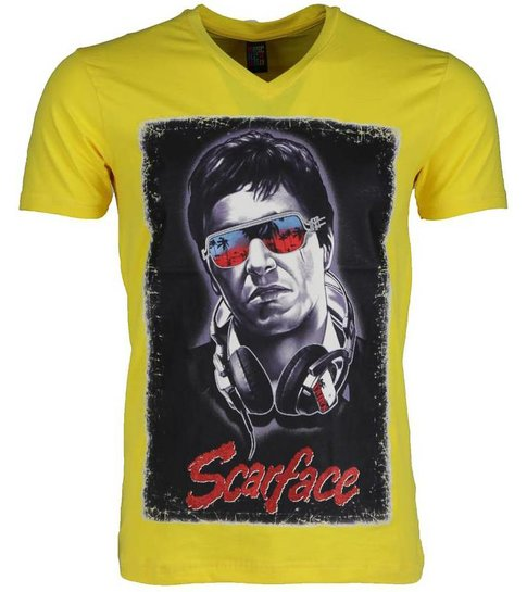 Local Fanatic T-shirt - Scarface - Geel