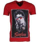 Local Fanatic T-shirt - Scarface - Rood