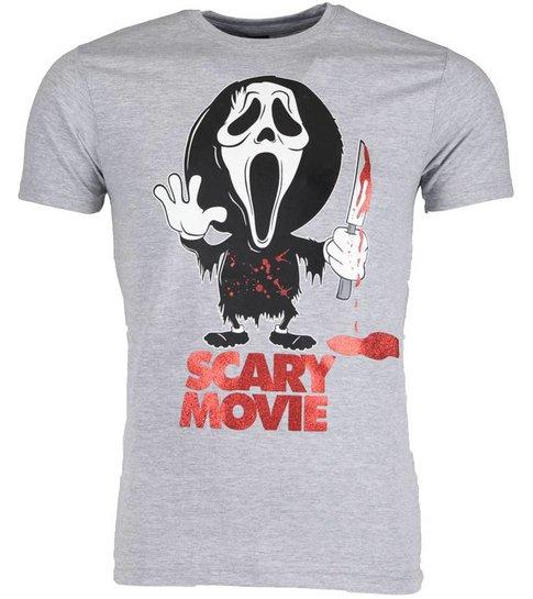 Local Fanatic T-shirt - Scary Movie - Grijs