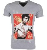 Local Fanatic T-shirt - Bruce Lee the Dragon - Grijs