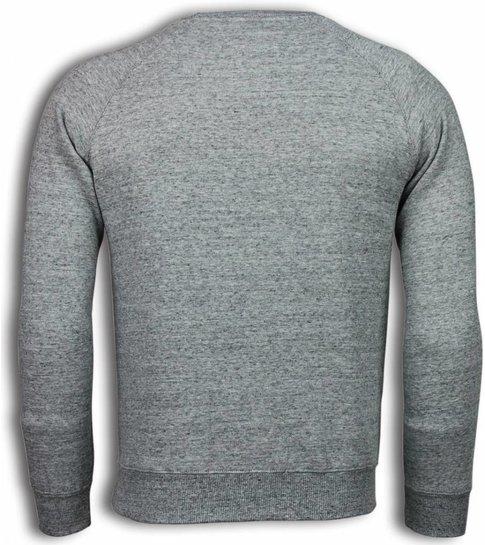 Enos Basic Fit Crewneck- Sweater - Grijs