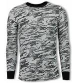 Uniplay Army Look Shirt - Long Fit Sweater - Zwart