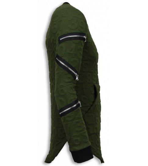 John H 3D Numbered Pocket - Long Fit - Groen