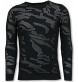 JUSTING 3D Camouflage Patroon Trui - Neon Pullover - Wit