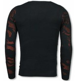 JUSTING 3D Camouflage Patroon Trui - Neon Pullover - Oranje