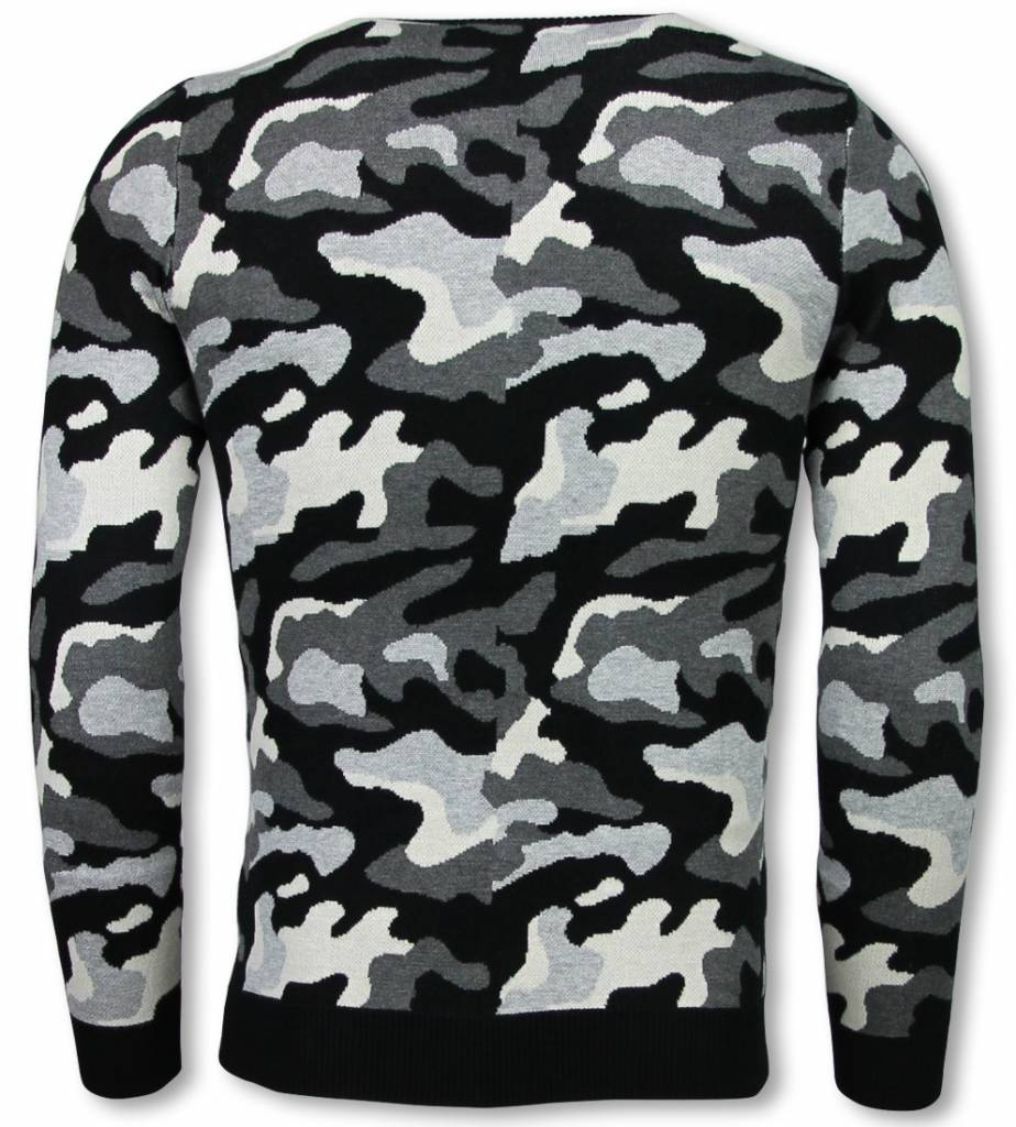 Legerprint Trui Dames.John H Military Trui Camouflage Pullover Grijs Styleitaly Nl