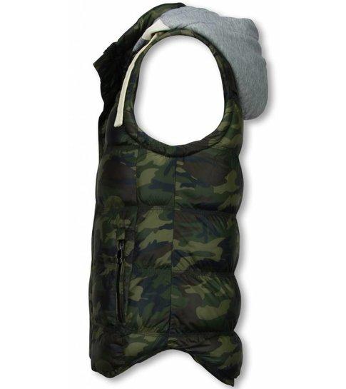 ENOS Bodywarmer Heren - Camouflage Vest Capuchon
