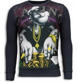 Local Fanatic Casino Popeye - Sweater - Donker Grijs